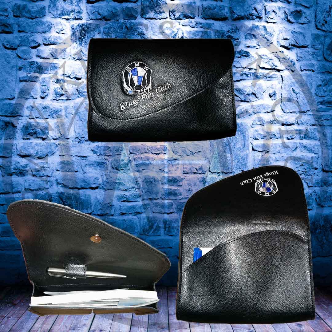 Φάκελος Εγγράφων BMW KINGS Με Κέντημα
